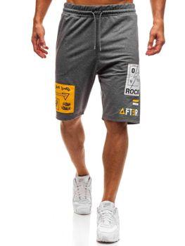 Мужские спортивные шорты графитовые Bolf 2026