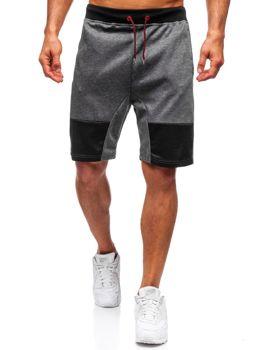 Мужские спортивные шорты графитовые Bolf 81020