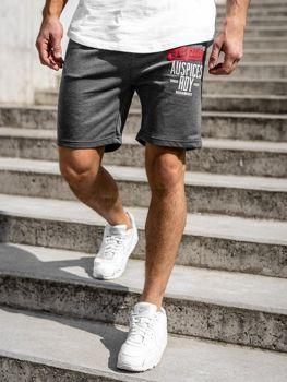 Мужские спортивные шорты графитовые Bolf EX07