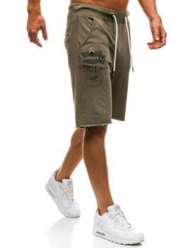 Мужские спортивные шорты зеленые Bolf A9601