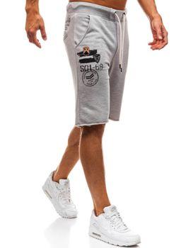 Мужские спортивные шорты серые Bolf A9601