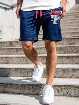 Мужские спортивные шорты темно-синие Bolf EX07