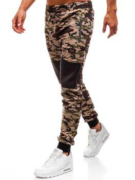 Мужские трикотажные брюки камуфляж-коричневые Bolf 170
