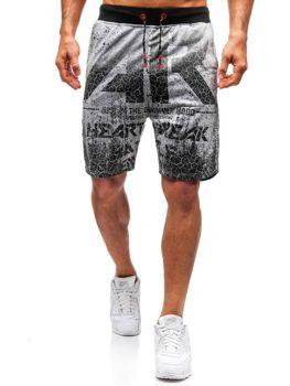 Мужские трикотажные шорты серые Bolf 300121
