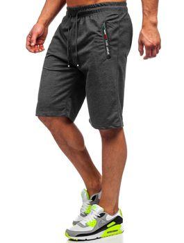 Мужские черные пляжные шорты Bolf JX369