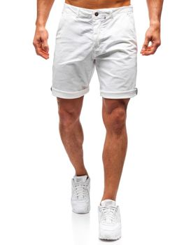 Мужские шорты белые Bolf 5919