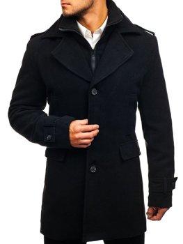 Мужское зимнее пальто черное Bolf 1808
