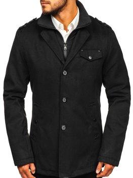 Мужское пальто черное Bolf 8853
