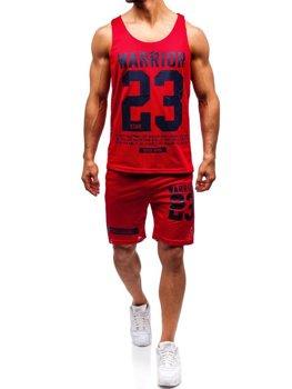 Мужской комплект футболка + шорты Bolf красный 100778