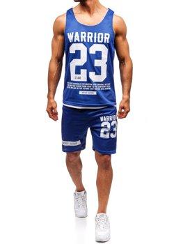 Мужской комплект футболка + шорты Bolf синий 100778