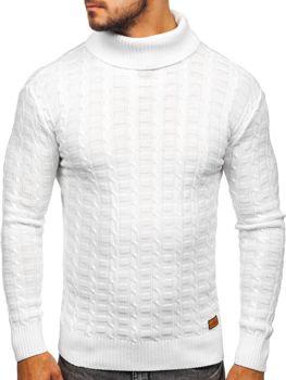 Мужской свитер гольф белый Bolf 16