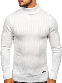 Мужской свитер гольф белый Bolf 3070