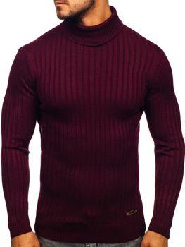 Мужской свитер гольф бордовый Bolf 3070