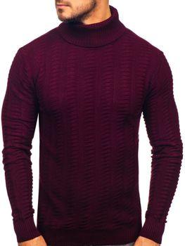 Мужской свитер гольф бордовый Bolf 314
