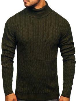 Мужской свитер гольф зеленый Bolf 315