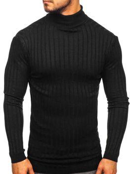 Мужской свитер гольф черный Bolf 2002
