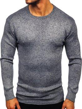 Мужской свитер темно-синий Bolf 8529
