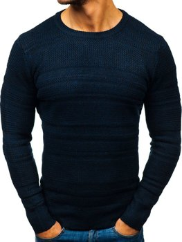 Мужской свитер темно-синий Bolf H1805
