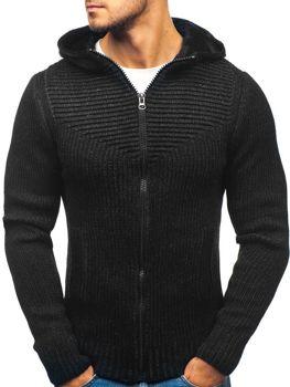 Мужской свитер черный Bolf 20008