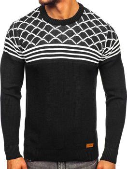 Мужской свитер черный Bolf 3017