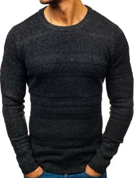 Мужской свитер черный Bolf H1805