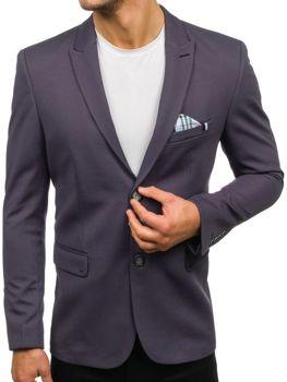 Мужской элегантный пиджак графитовый Bolf192