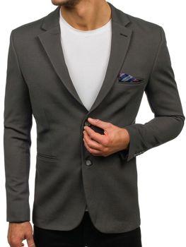 Мужской элегантный пиджак зеленый Bolf 218