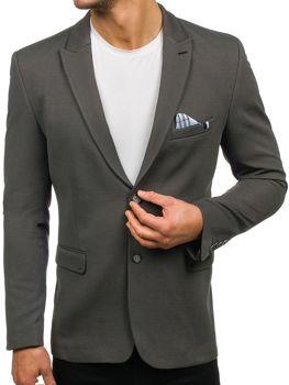 Мужской элегантный пиджак зеленый Bolf192