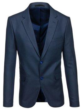 Мужской элегантный пиджак темно-синий Bolf 1050