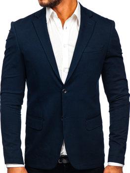 Мужской элегантный пиджак темно-синий Bolf SR2003