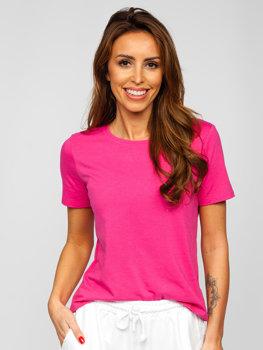 Розовая женская футболка без принта Bolf SD211