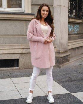 Розовое женское пальто Bolf 7108