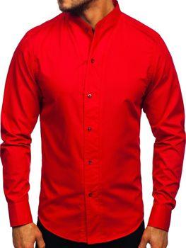 Рубашка мужская с длинным рукавом красная Bolf 5702