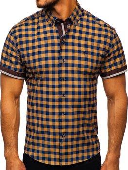 Рубашка мужская BOLF 4508 коричневая