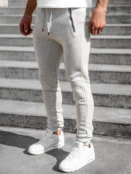 Светло-серые мужские спортивные брюки Bolf 4966