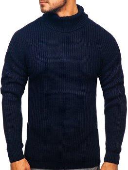 Свитер мужской гольф темно-синий Bolf 4368