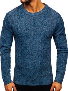 Свитер мужской синий Bolf H1937