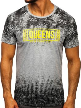 Серая мужская футболка с принтом Bolf KS1980