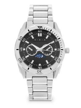Серебряные мужские наручные часы из стали Bolf 5687