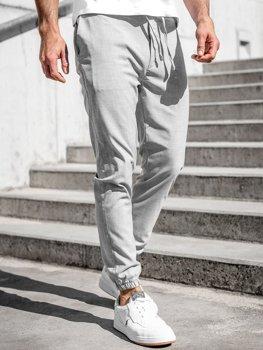 Серые мужские брюки джоггеры Bolf 0011