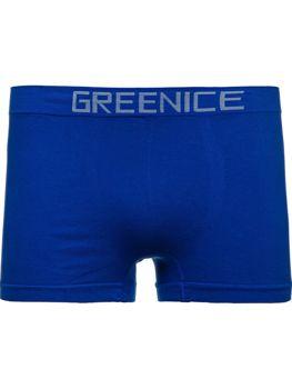 Синие мужские трусы боксеры Bolf PL4501