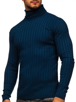 Синий мужской свитер гольф Bolf 520