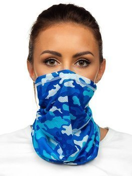 Синяя камуфляжная бандана-трансформер Bolf YW0504
