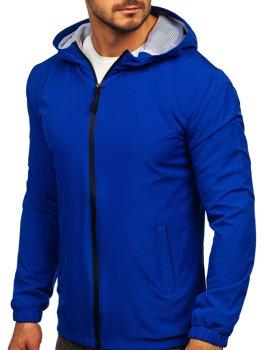 Синяя мужская спортивная куртка ветровка  Bolf HH035