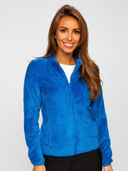Синяя флисовая женская толстовка Bolf HH001
