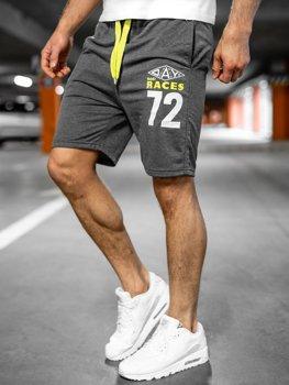 Спортивные мужские шорты графитовые Bolf EX05