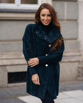 Темно-зеленое женское пальто Bolf 7118-1