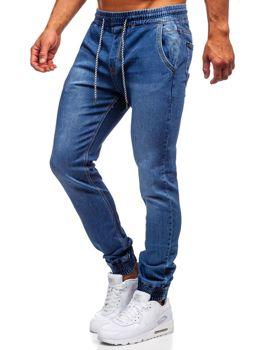 Темно-синие мужские джинсовые джоггеры Bolf KA1076