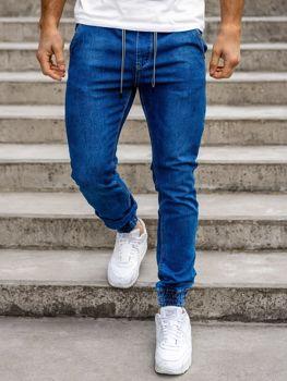 Темно-синие мужские  джинсовые джоггеры Bolf KA1078