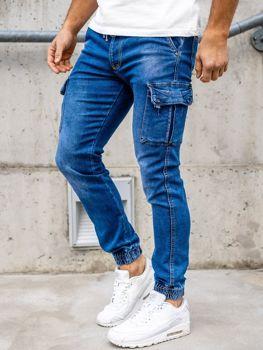 Темно-синие мужские джинсовые джоггеры Bolf KA1311-1